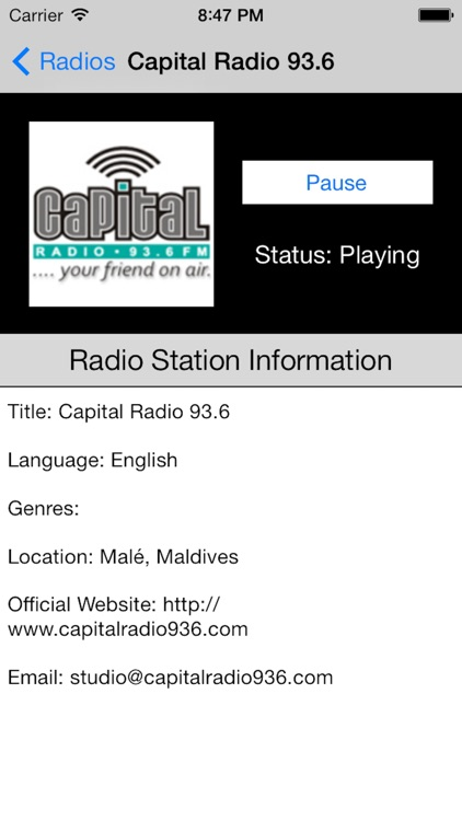 Maldives Radio Live Player (Malé/Maldivian/Dhivehi screenshot-4