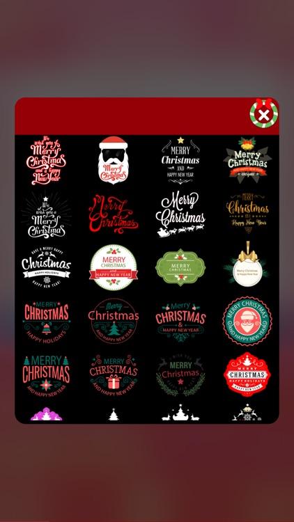 Merry Christmas Wishes - Photo Art Camera Stickers screenshot-4
