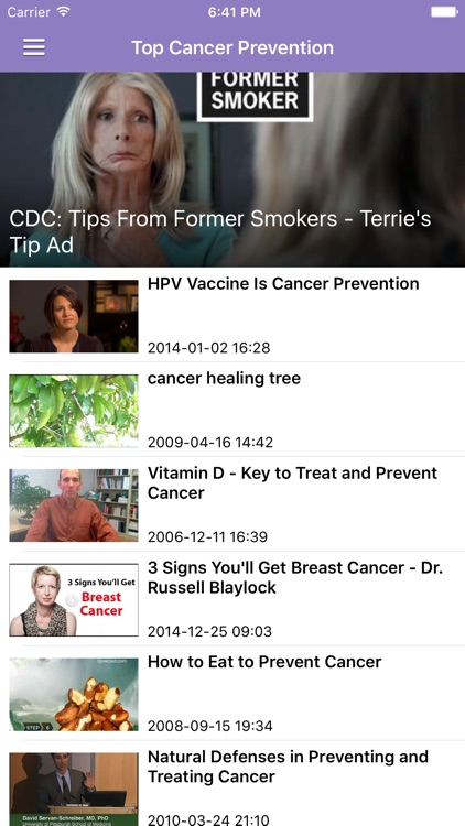 Cancer Research News & Prevention Info Free screenshot-4