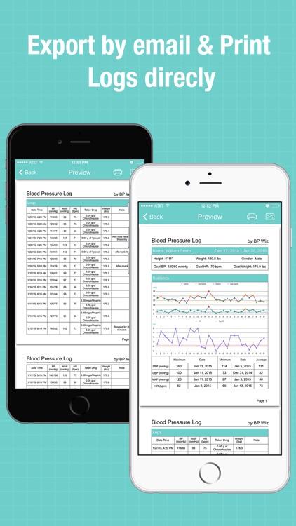 BP Wiz Pro - Blood Pressure Log & Drugs Tracker screenshot-3