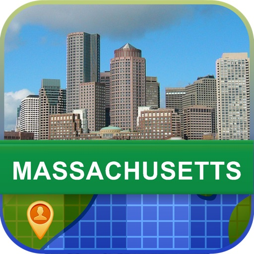 Offline Massachusetts, USA Map - World Offline Maps