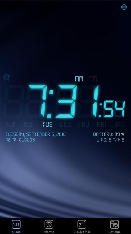 Alarm Clock - Digital, Music Alarms & Flashlight