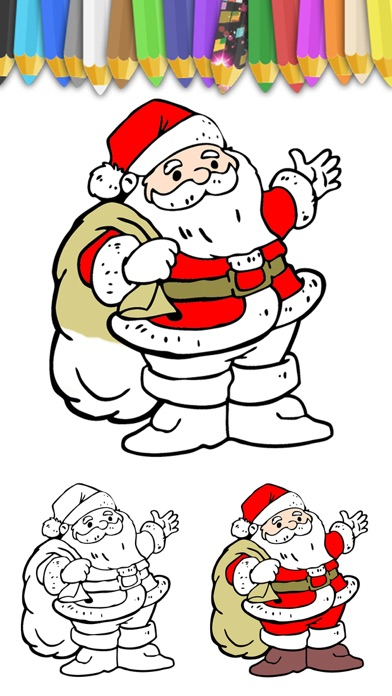 download Paint Christmas magic - Christmas coloring pages apps 0