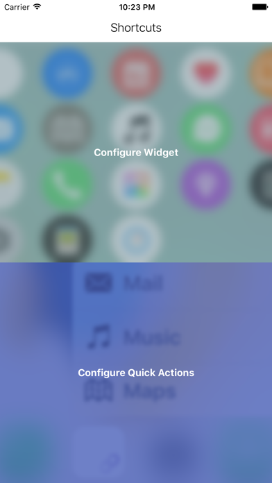 Shortcuts (Quick Open) screenshot two