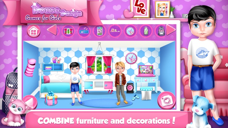 House Design Games for Girls: Decorate Dollhouse.s screenshot-3