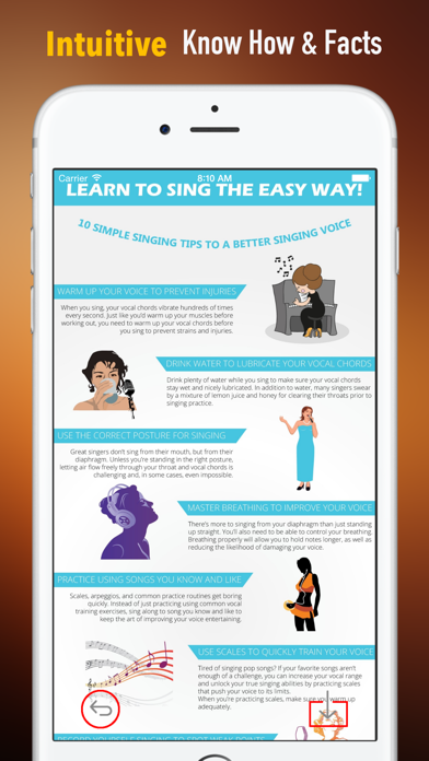 Singing Tips:New Approach and Sight Singing screenshot one