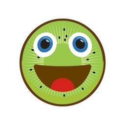 Kiwimoji - Kiwi Fruit emoji stickers