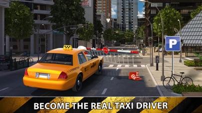 City Taxi Driver Sim 2016 - Yellow Cab Parking Maina in Las Vegas Real Traffic screenshot four