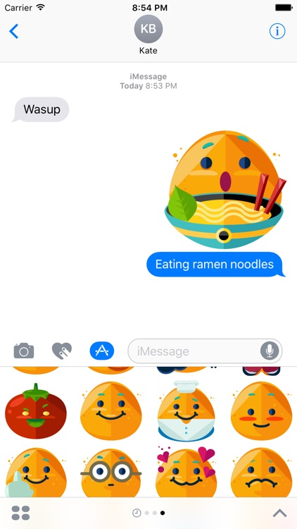 Potato Boy Emoji Stickers for Messages
