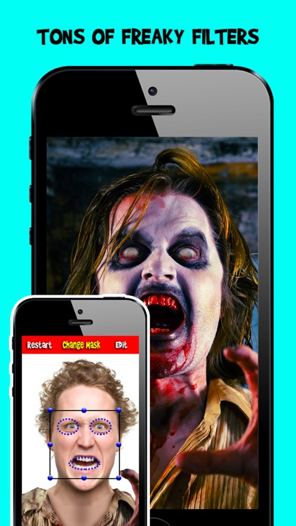 Corpse Cam PRO : Zombie Mask Editor Booth screenshot-1