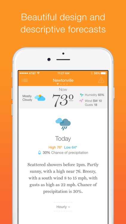 Weather Simple – Clear, concise forecasts screenshot-0