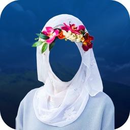 Hijab Flower Crown Photo Montage