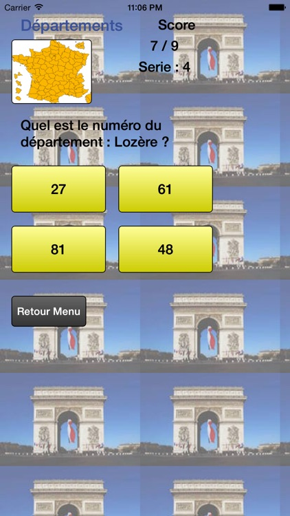 Départements de France - Liste et Quiz screenshot-3