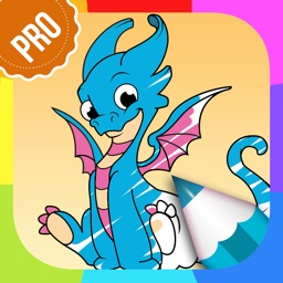 Dragon Coloring Pages PRO - Animal Coloring Games for Kids