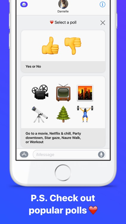 Emoji Poll - Send surveys to friends with iMessage screenshot-4