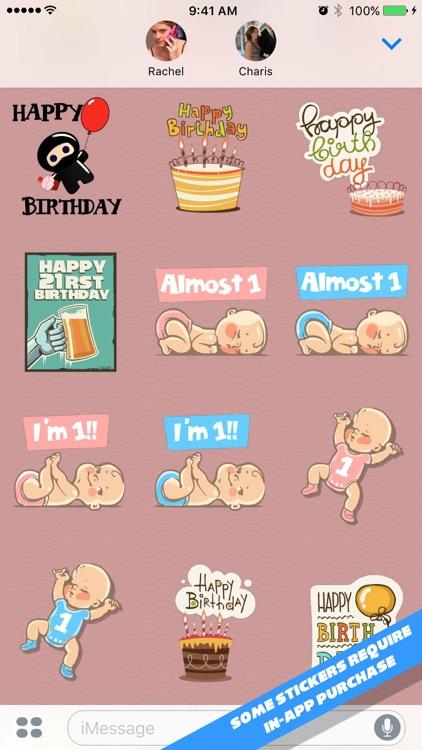 Happy Birthday Stickers screenshot-3