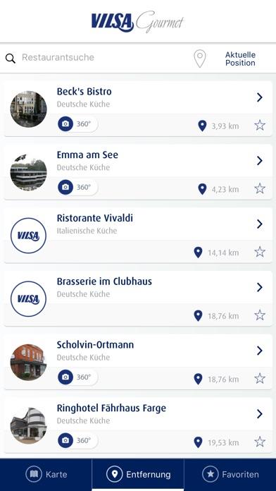 VILSA Gastronomie FinderScreenshot von 2
