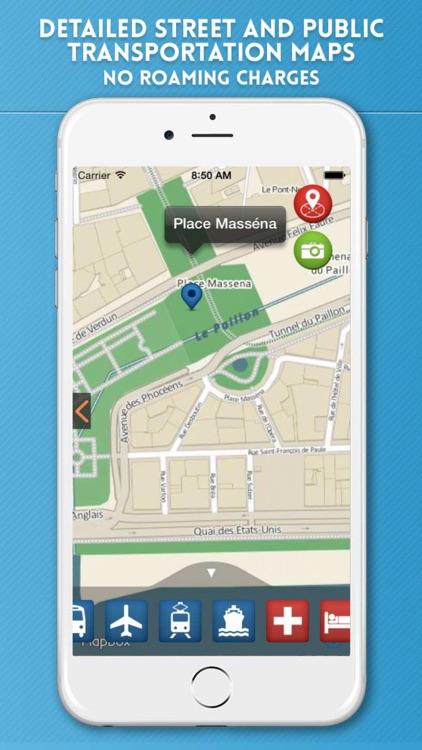 Nice Travel Guide with Offline City Street Map screenshot-3