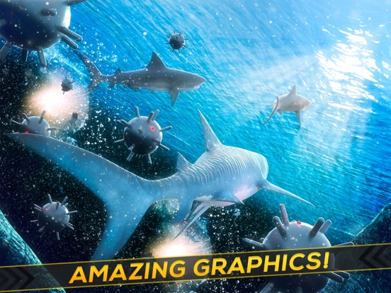Sea Shark Adventure: Shark Simulator Game For Kids-ipad-1