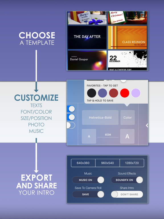 Intro Designer Lite - Create Intros for iMovie screenshot