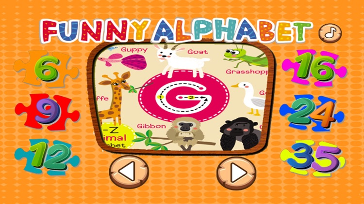 ABC ZOO Alphabet Jigsaw Puzzle Kids Games Learning screenshot-2
