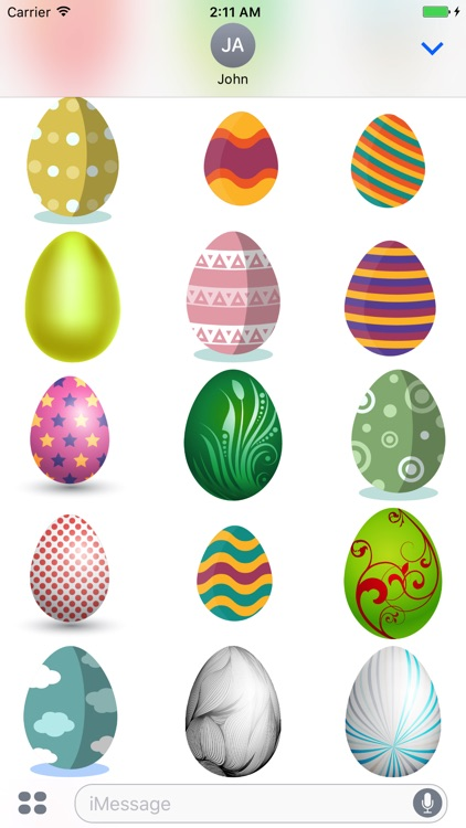 Easter Eggs Sticker for iMessage screenshot-4