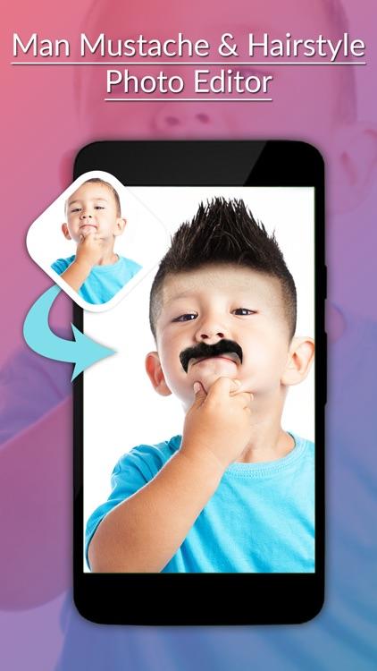 Man Mustache & Hairstyle Photo Editor