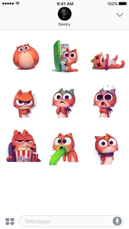 Taffy Cat in Love – Emoji & Stickers screenshot-3