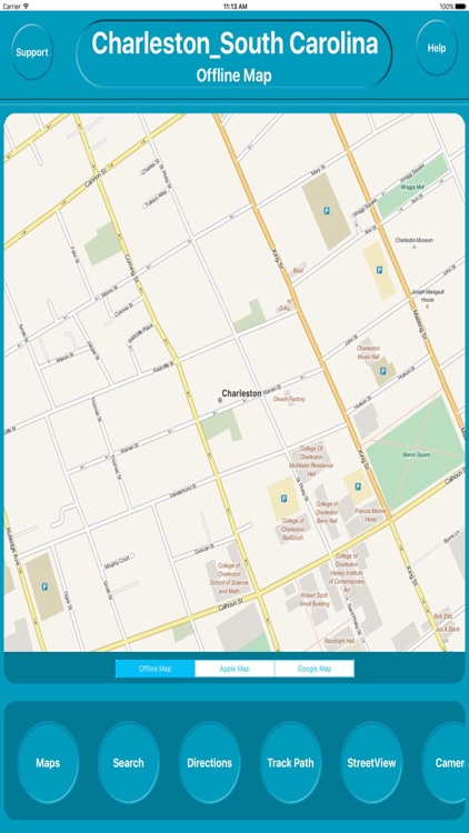 Charleston SC USA City OfflineMap Navigation EGATE screenshot-0