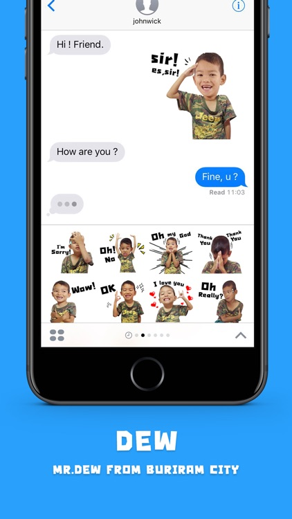DEW Stickers for iMessage screenshot-3