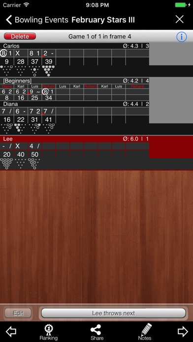 Bowling Scoreboard review screenshots