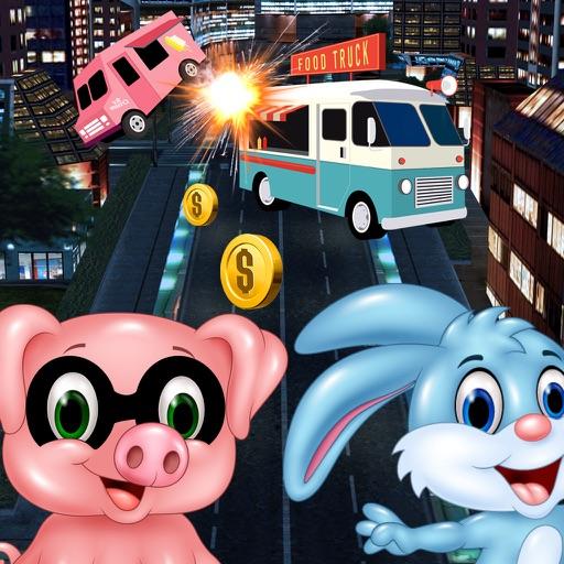 3D Rabbit Street Racer Escape Police Free Games iOS App