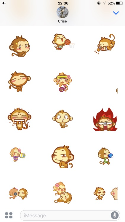 Monkeymoji Stickers for imessages