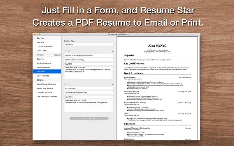 点击获取Resume Star: Pro CV Designer