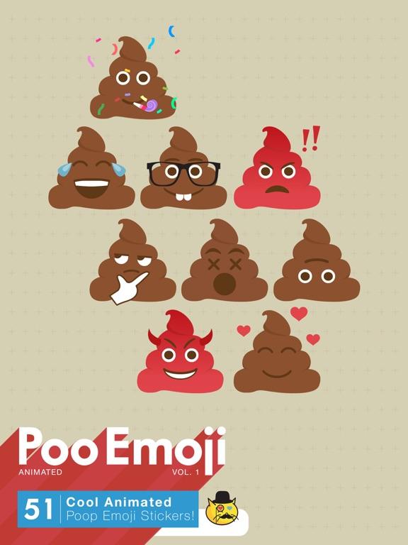 screenshot 1 for poo emoji cute animated poop emoji stickers