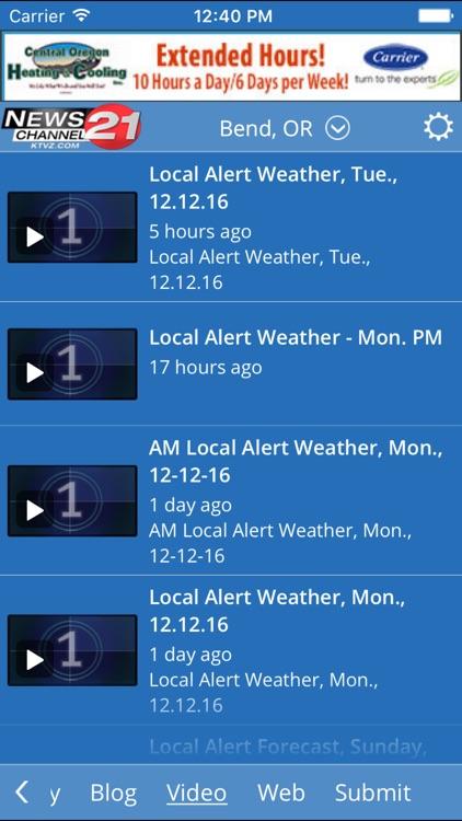 KTVZ NewsChannel 21  Local Alert Weather App screenshot-3