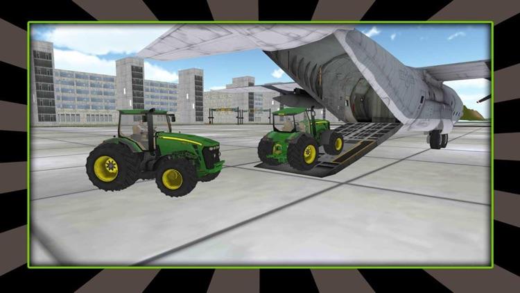 3D Farming Tractor Cargo Airplane Pilot