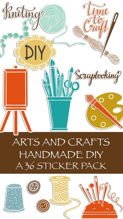 Arts and Crafts Handmade DIY Sticker Pack