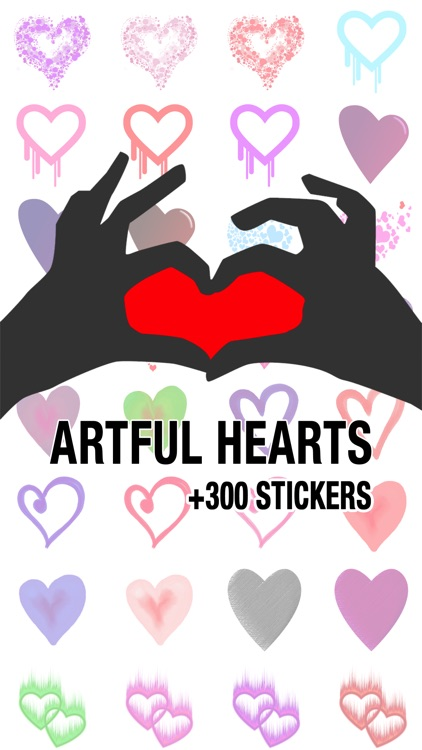 Artful Hearts: Artsy Heart Stickers