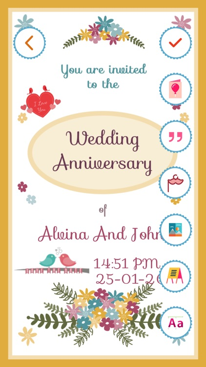 anniversary invitation card maker pro by bhavik savaliya