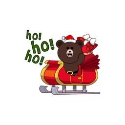 Cute Santa Bear  2 stickers for iMessage