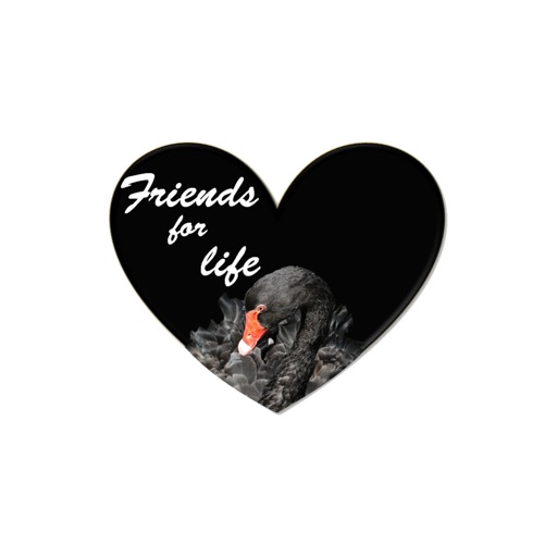 Friendship hearts stickers by Alade Expressions