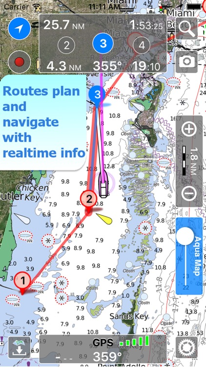 Aqua Map Bahamas HD Pro - GPS Wavey Line Charts