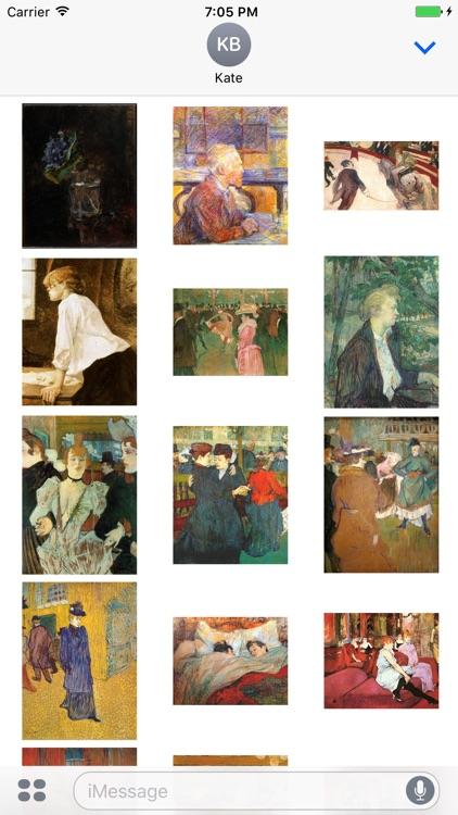 Toulouse Lautrec Artworks for iMessage