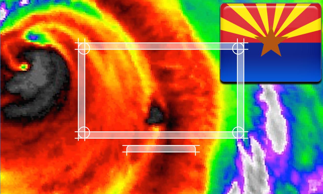 Arizona NOAA Radar with Traffic Camera 3D
