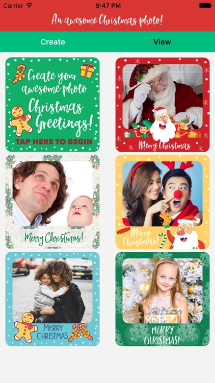 A Christmas Photo Greeting for iMessage Stickers