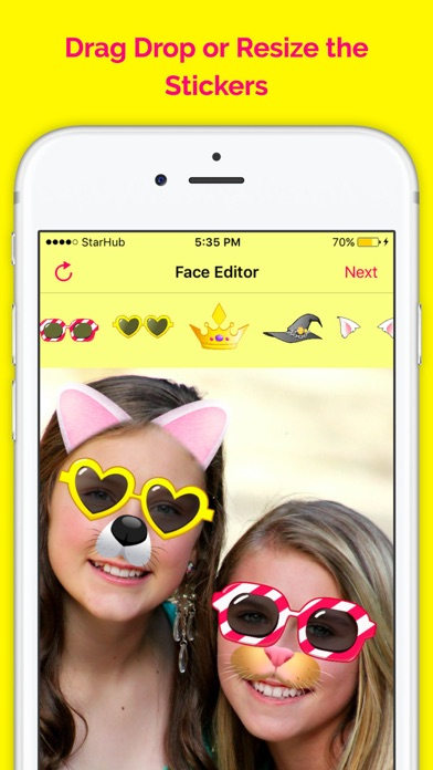 Funny Face Filters - Face Snow Screenshot on iOS