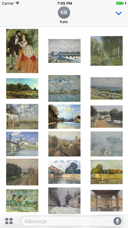 Alfred Sisley Paintings for iMessage