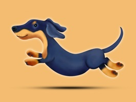 React with cute Dachshund Dog Stickers and Emojis Pack
