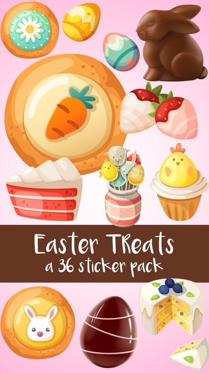 Easter Treats Cookies Cake and Candy Sticker Pack